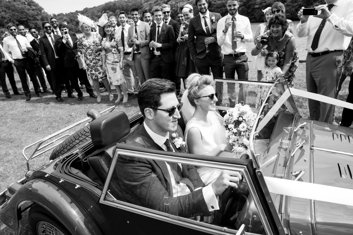 black and white wedding photography in devon