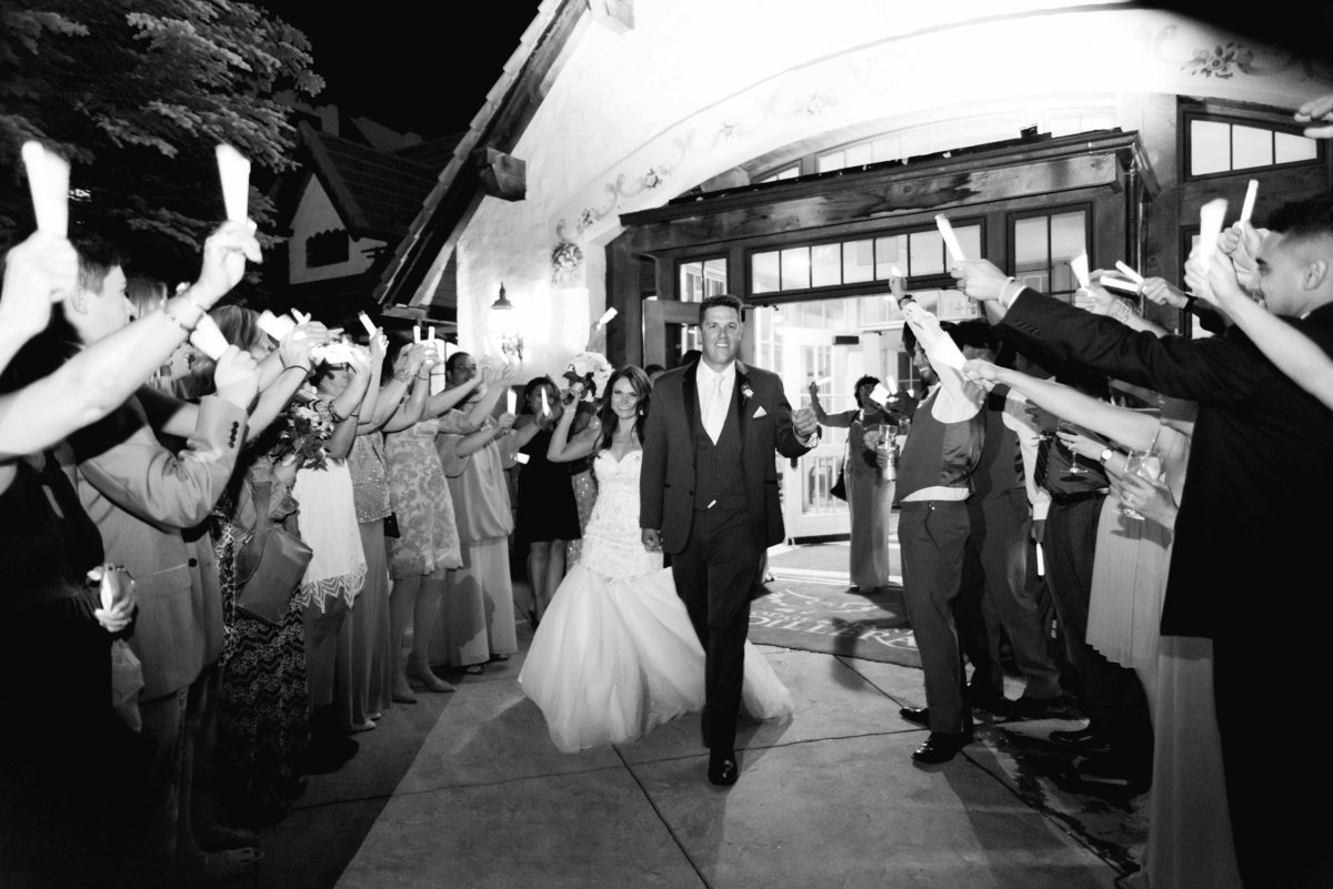 Vail Wedding photographers - Glow Stick Grand Exit