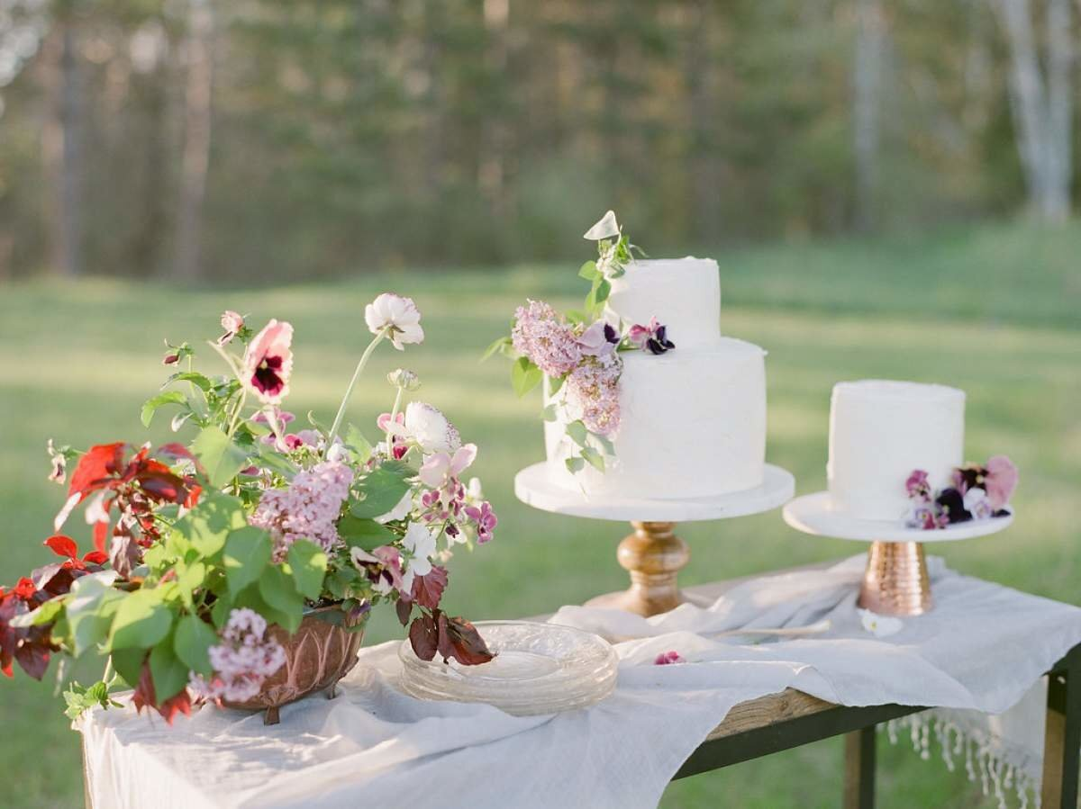 purple-rustic-wedding-cake