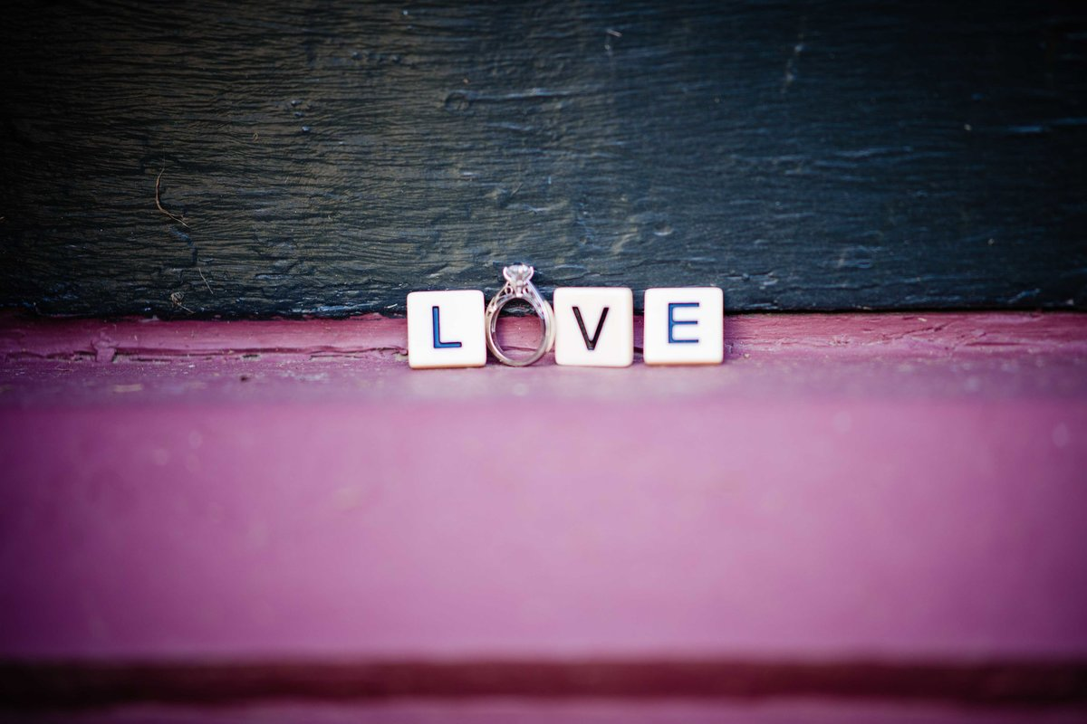 43 engagement ring with scrabble tiles for mansion at bald hill wedding