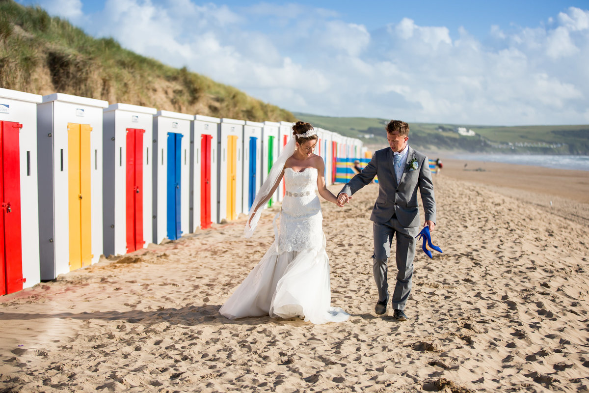 devon beach wedding photographer