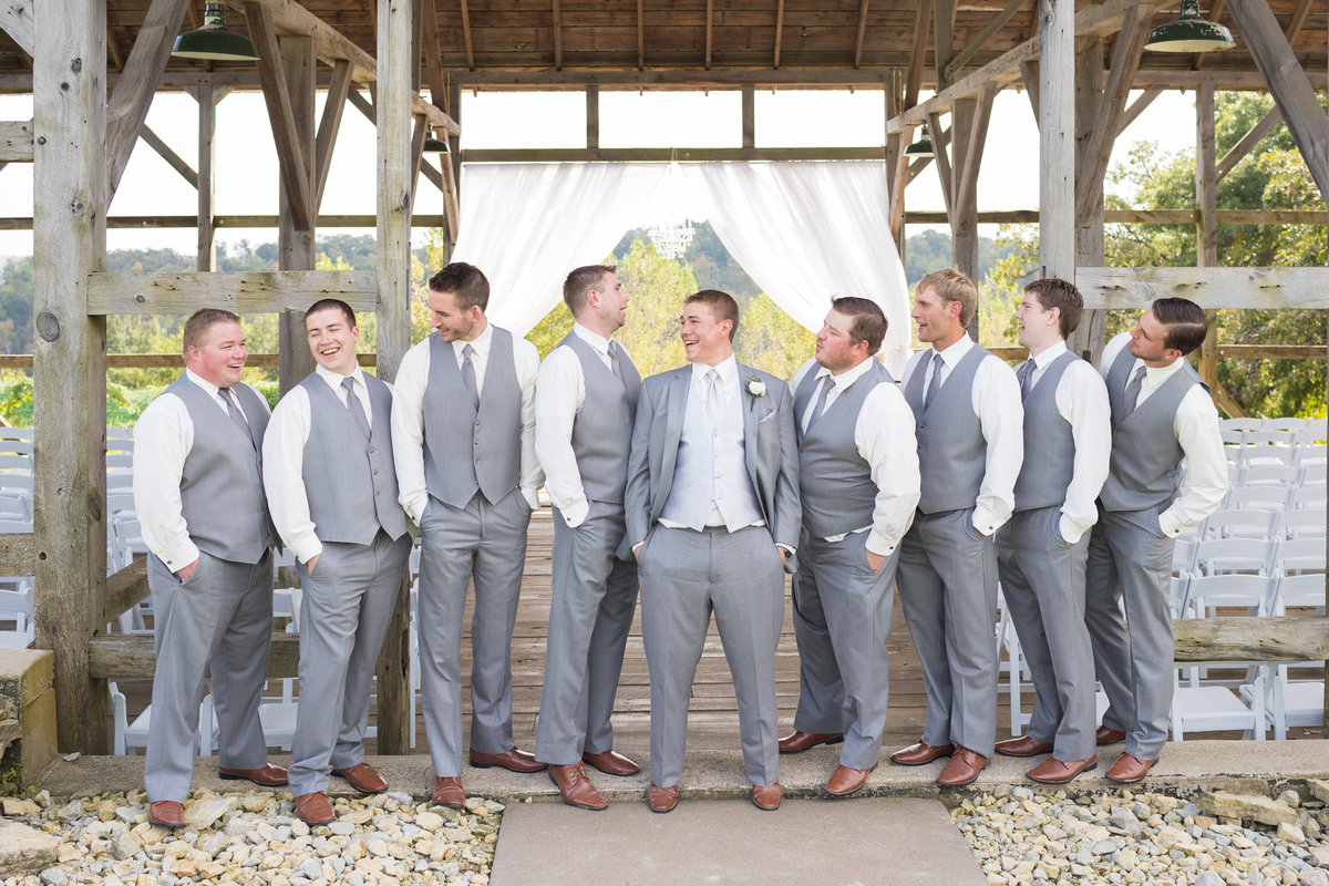 cannon river vineyard with these groomsmen