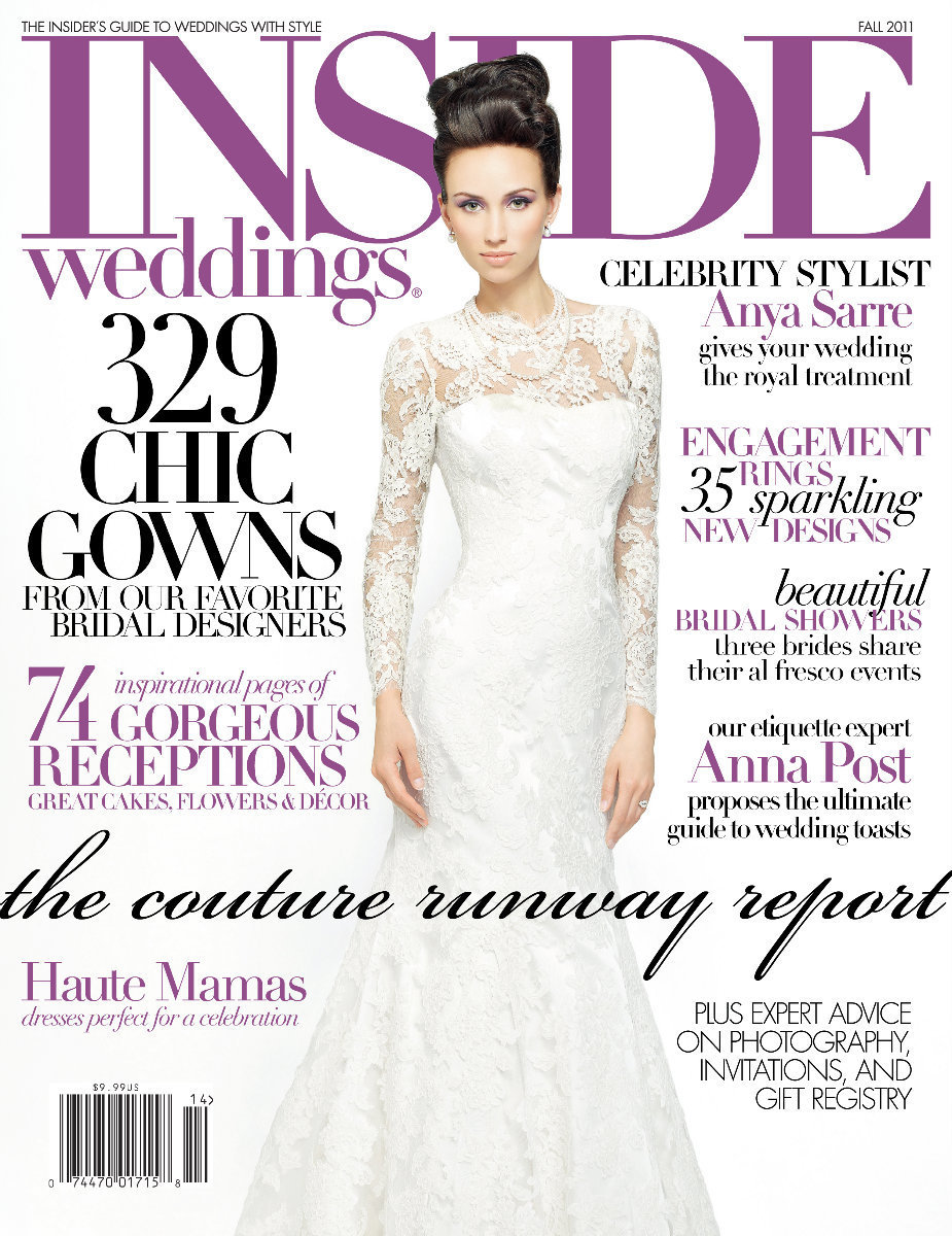 I don't even know how to put into words how excited we are to have Tanya and Pete's wedding at The Peninsula hotel in Chicago featured in the Fall 2011 Issue of Inside Weddings magazine. It's one of the best wedding magazines in the world to draw inspiration from as a bride. We can't thank. the beautiful Marilyn Oliveira, Art Scangas, and Walt Shepard enough for this incredible honor. Truly., Bob and I are so excited...!!! Click here for a list of vendors.