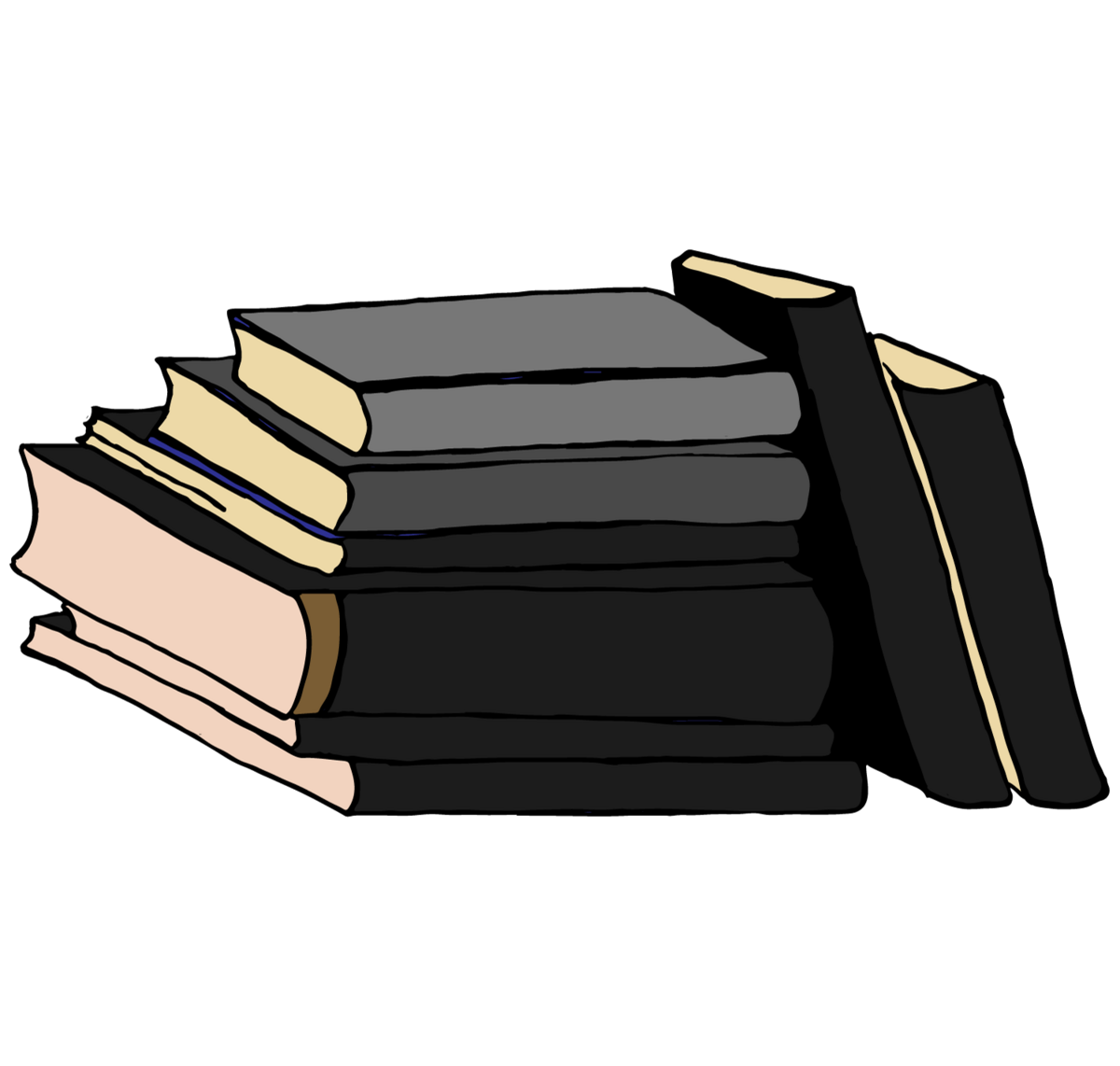 Book-stack-black