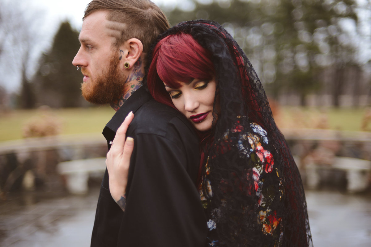 Taylor-conservatory-wedding-michi-gan-wedding-photographer-girl-with-the-tattoos-wedding-photographer-black-veil-bride-tattoo-wedding-pcitures