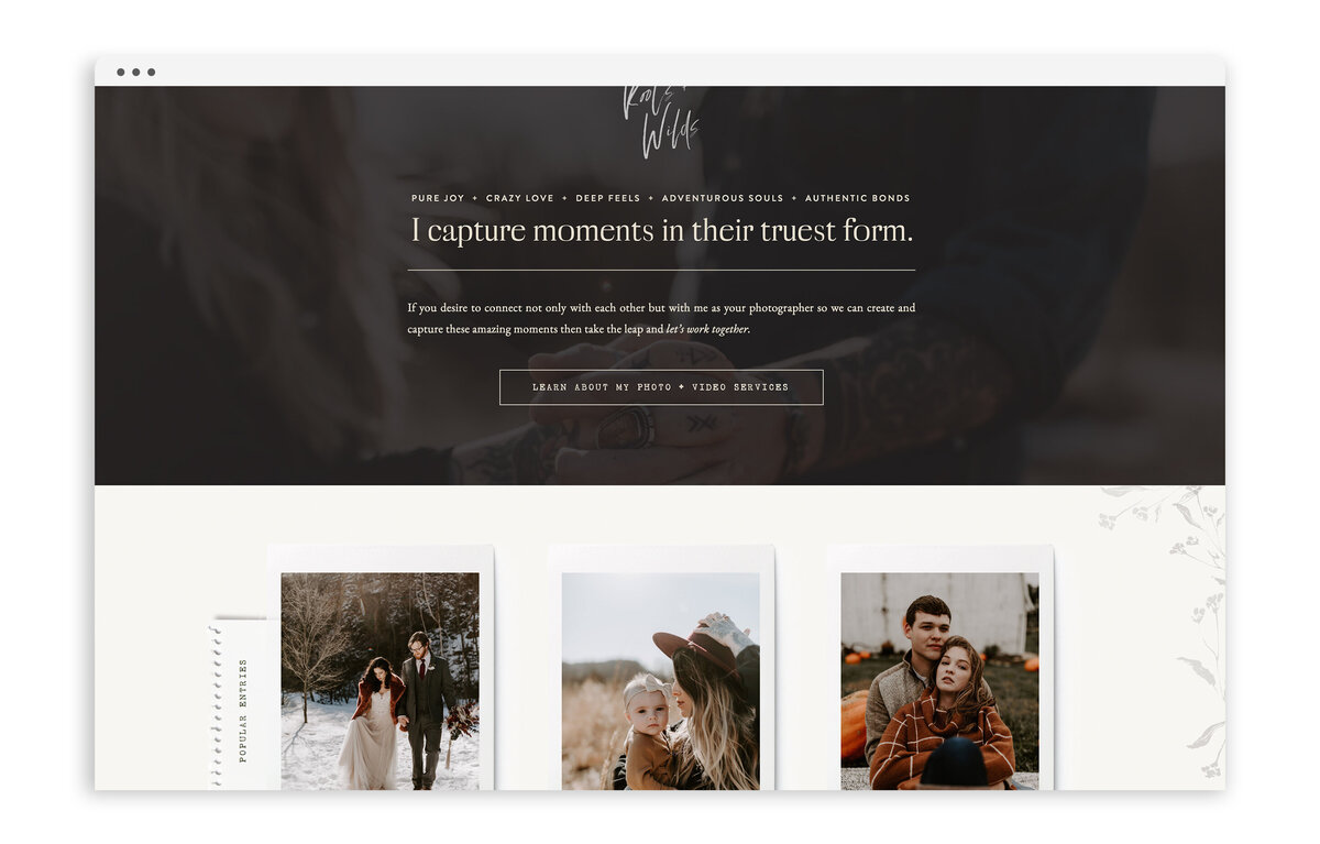 Roots and Wilds by Maggie Vetsch - Custom Brand and Showit Website Design by With Grace and Gold - Best Showit Designer - 20