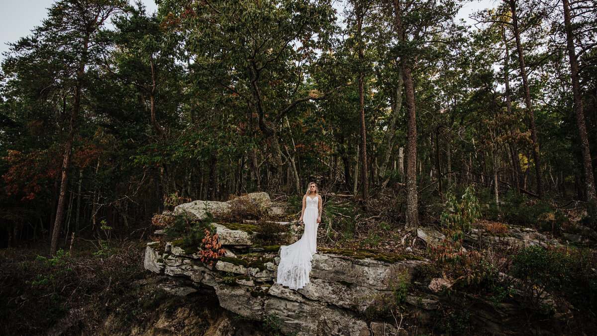 wooded forest mountain hiking backpacking elopement photography videography