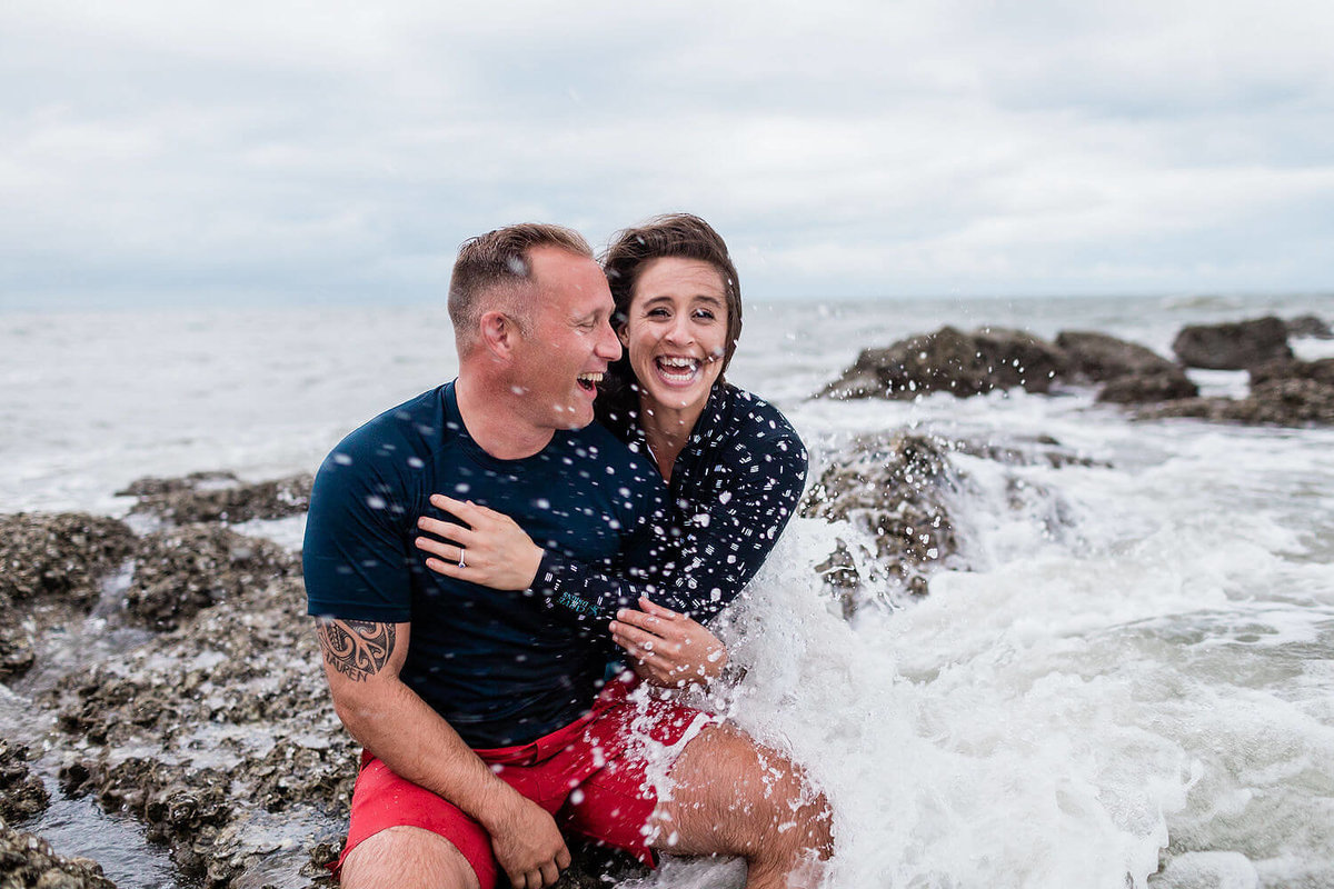 Engagement pictures on Tybee Island by Apt. B Photography