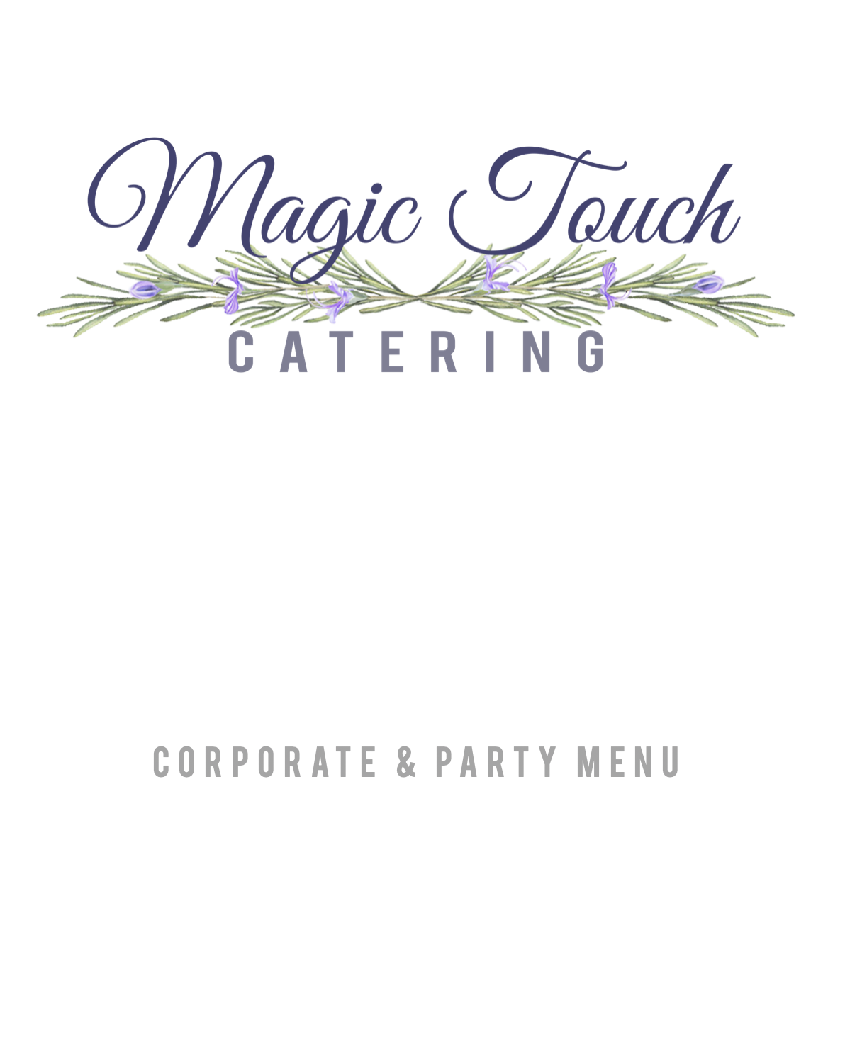 Corporate Party Menu Download