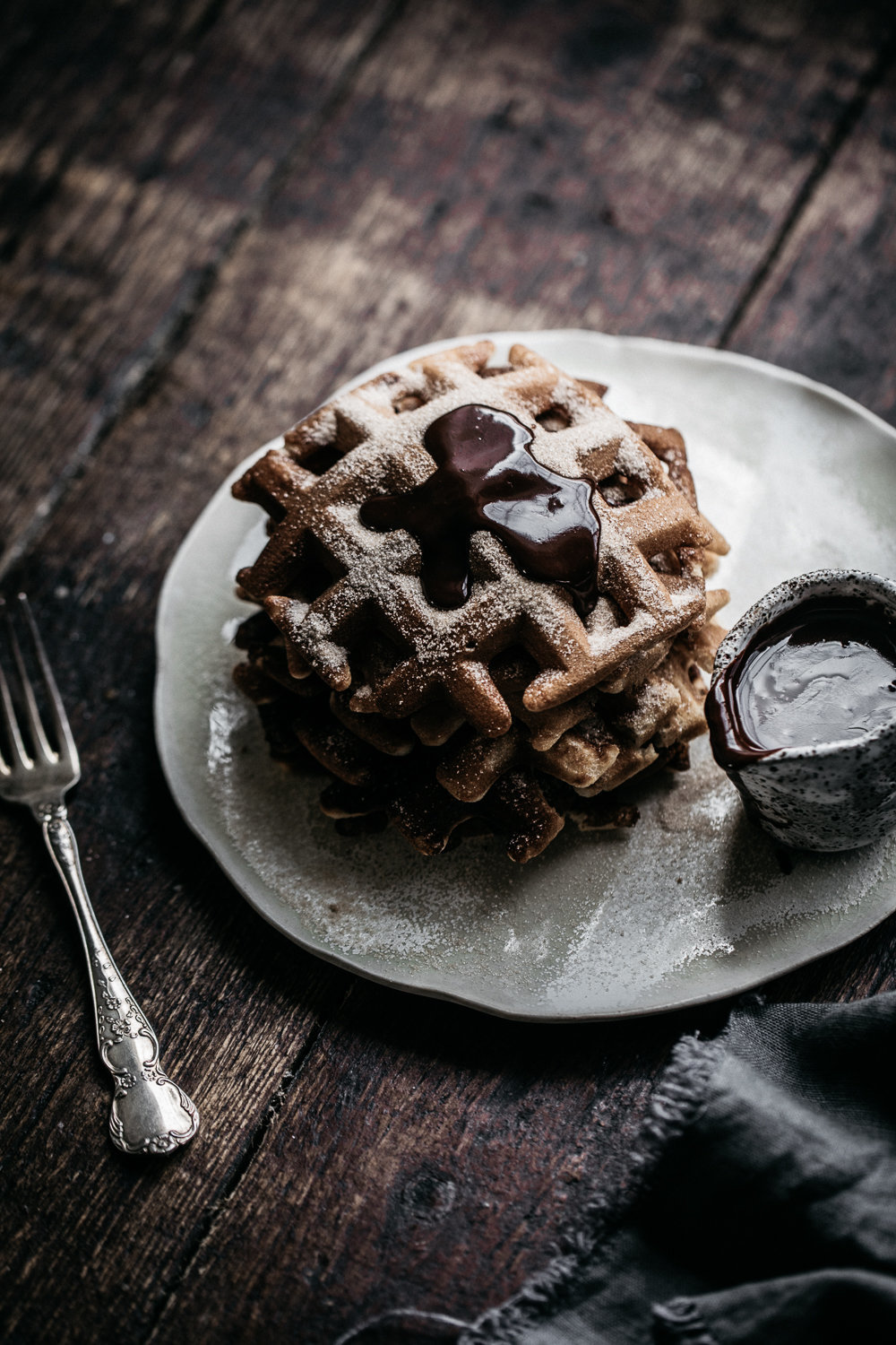 Churros Waffles with Nutella Fudge | Anisa Sabet | The Macadames-241