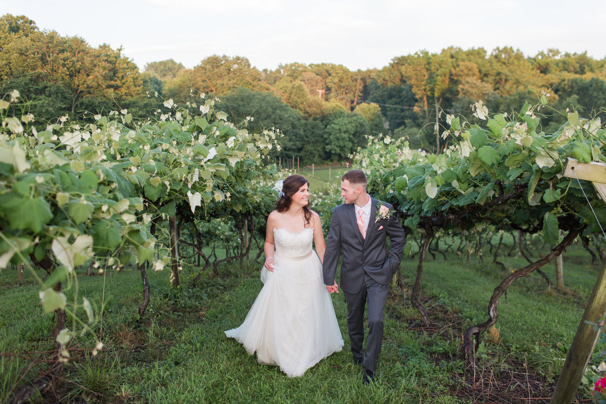 Mountain Rose Vineyard Summer Wedding