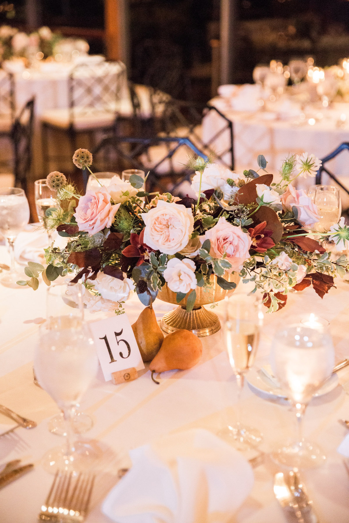centerpiece wedding Winterthur florist