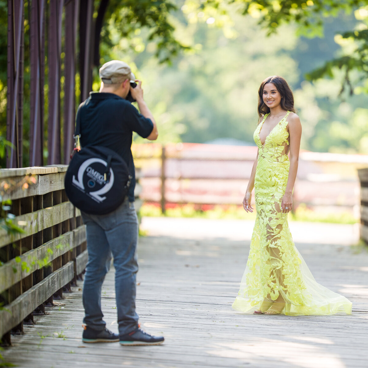 Behind the scenes in Phoenixville at a senior portrait session