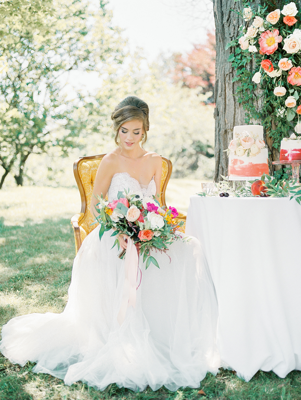 Whimsical Summer Wedding Styled Shoot at Henderson Castle Featured in WeddingDay Magazine Bridal Portrait