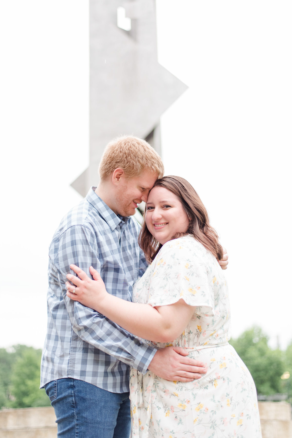 Cait Potter Creative LLC Canal Indianapolis White River State Park Spring Engagement Photos-11