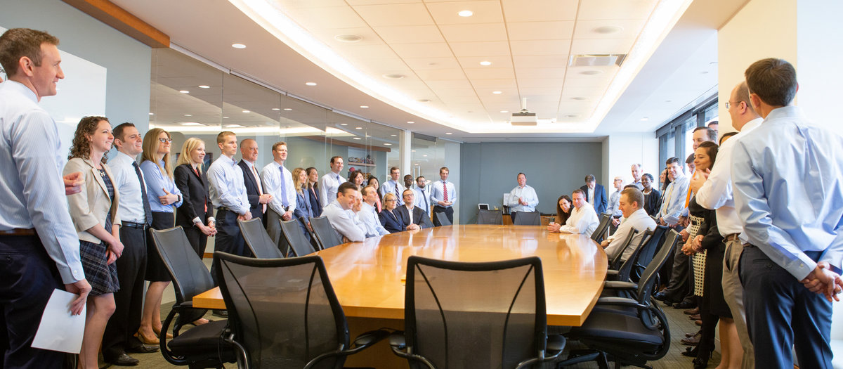 Candid corporate group photography