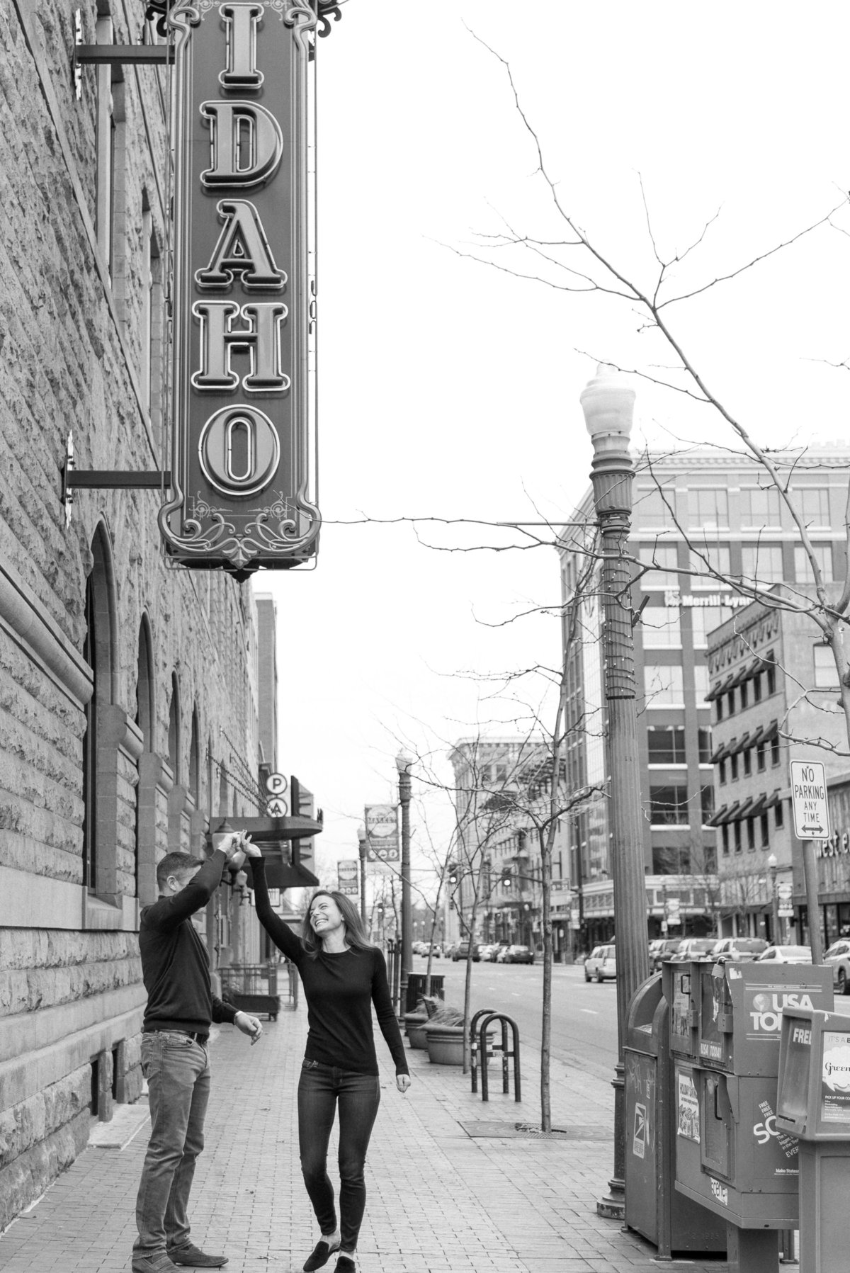 A Winter Downtown Boise Rooftop Engagement Shoot 013