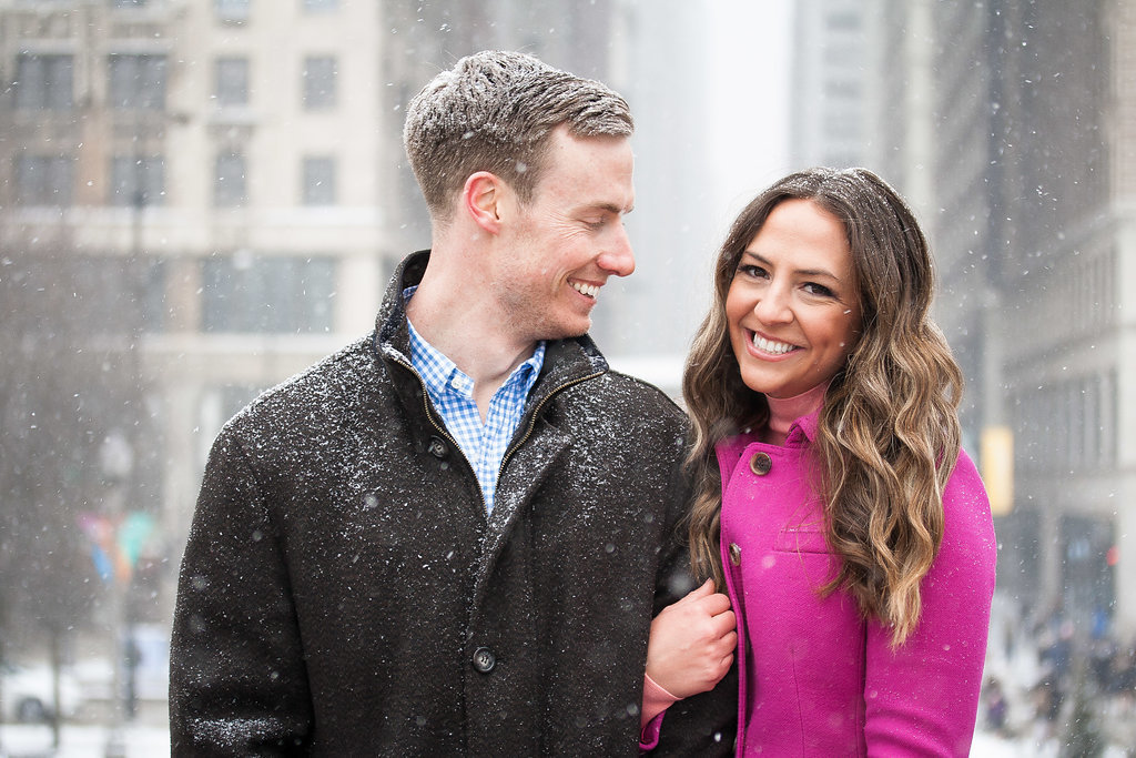 Millennium Park Chicago Illinois Winter Engagement Photographer Taylor Ingles 34