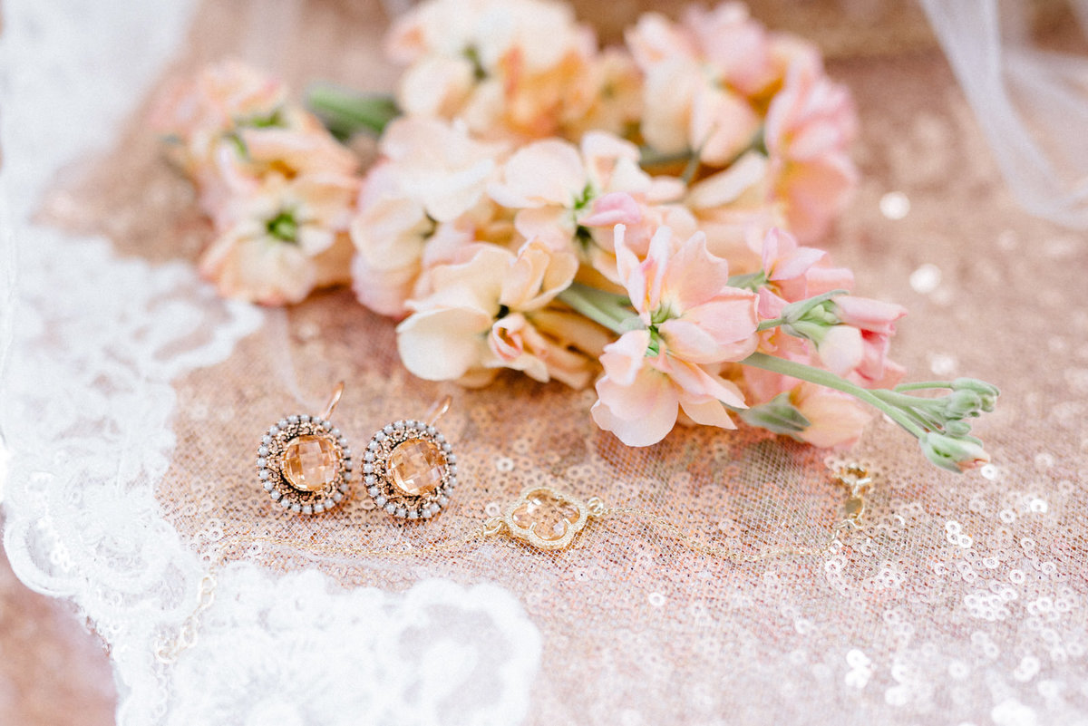 wedding jewelry and florals