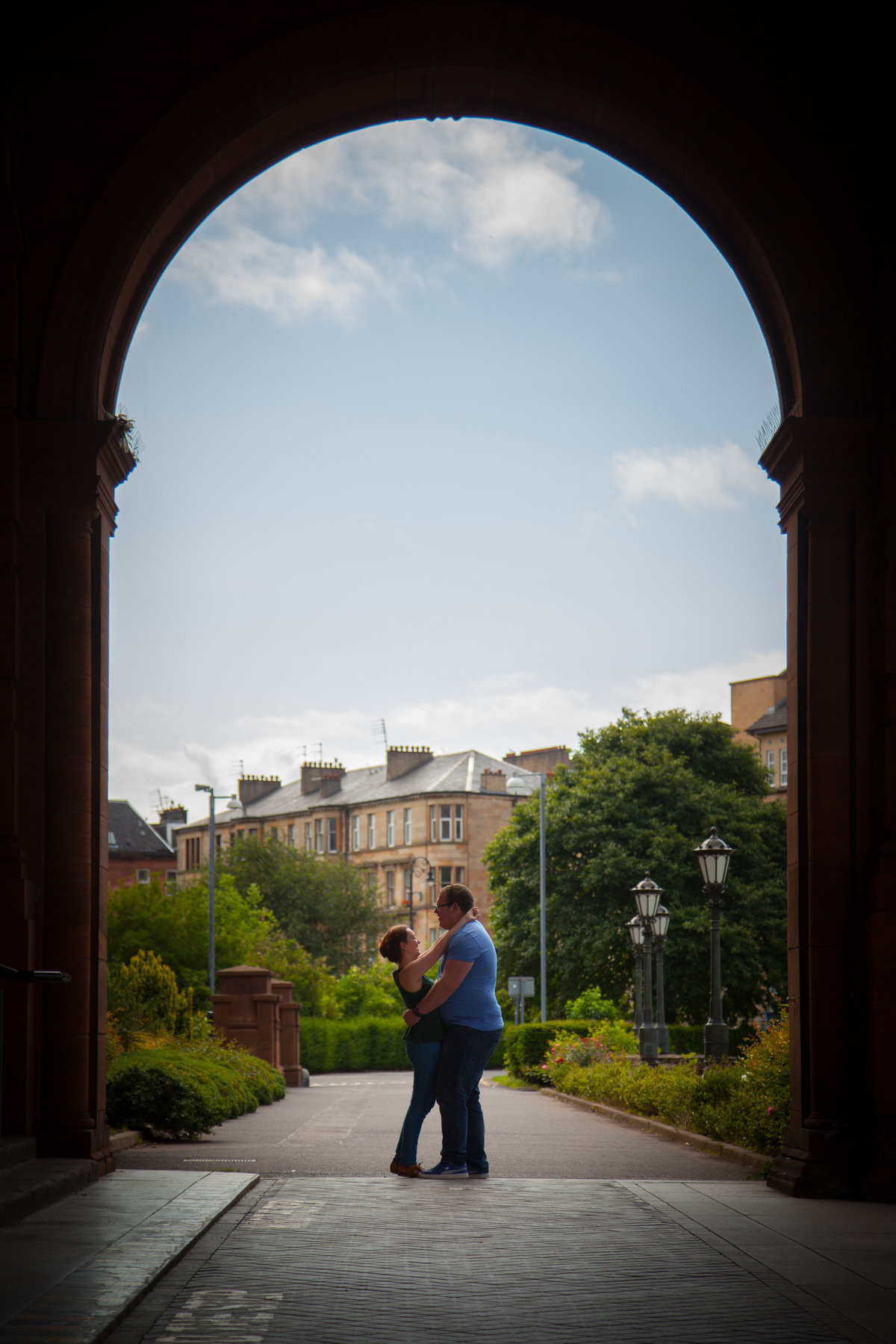 engagement photo in Glasgow