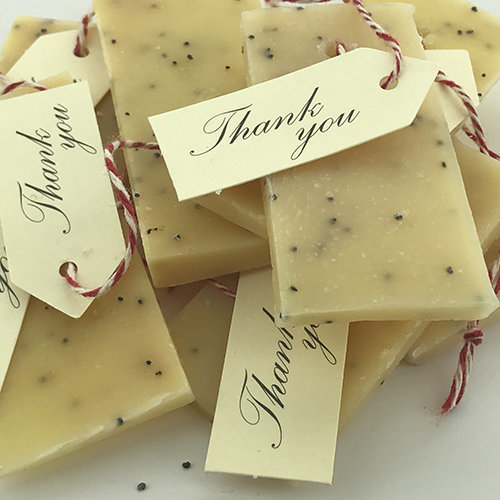 lemon and poppy soap