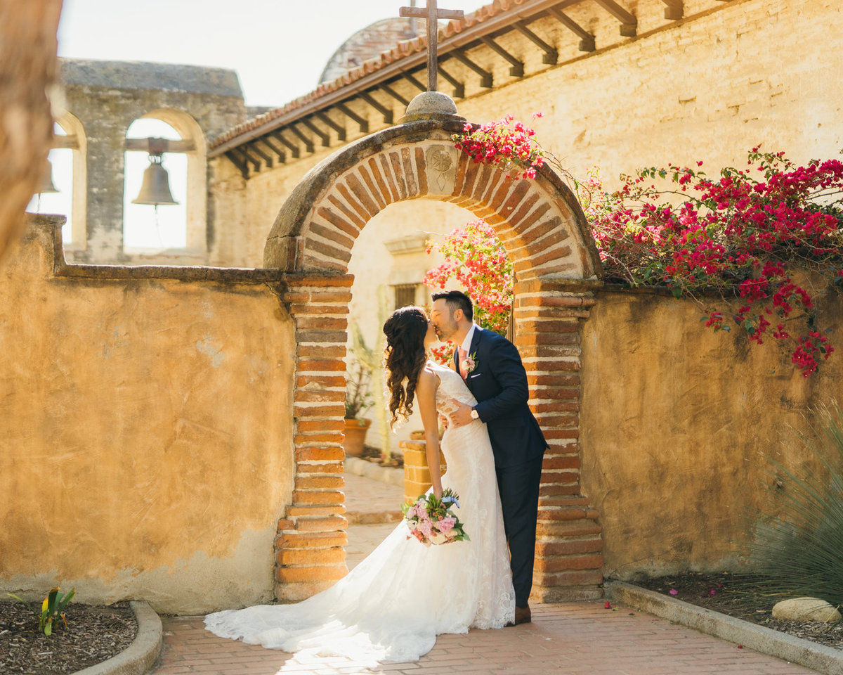 Wedding at franciscan gardens in san juan capistrano