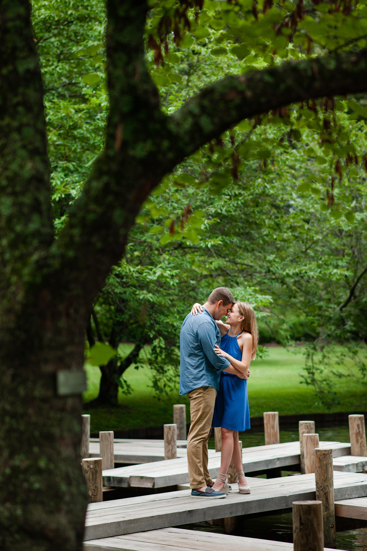 memphis botanic gardens dock engagement session
