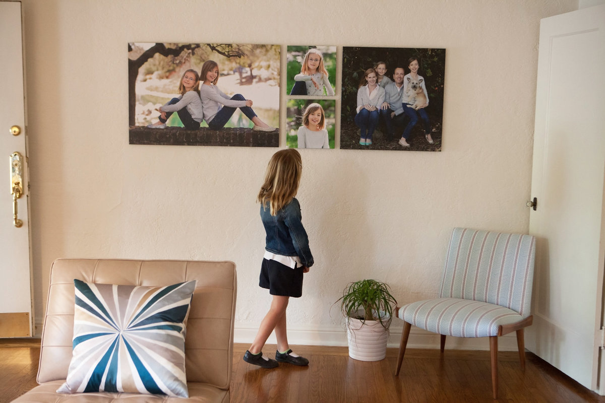 Family Photography shown with Wall Art