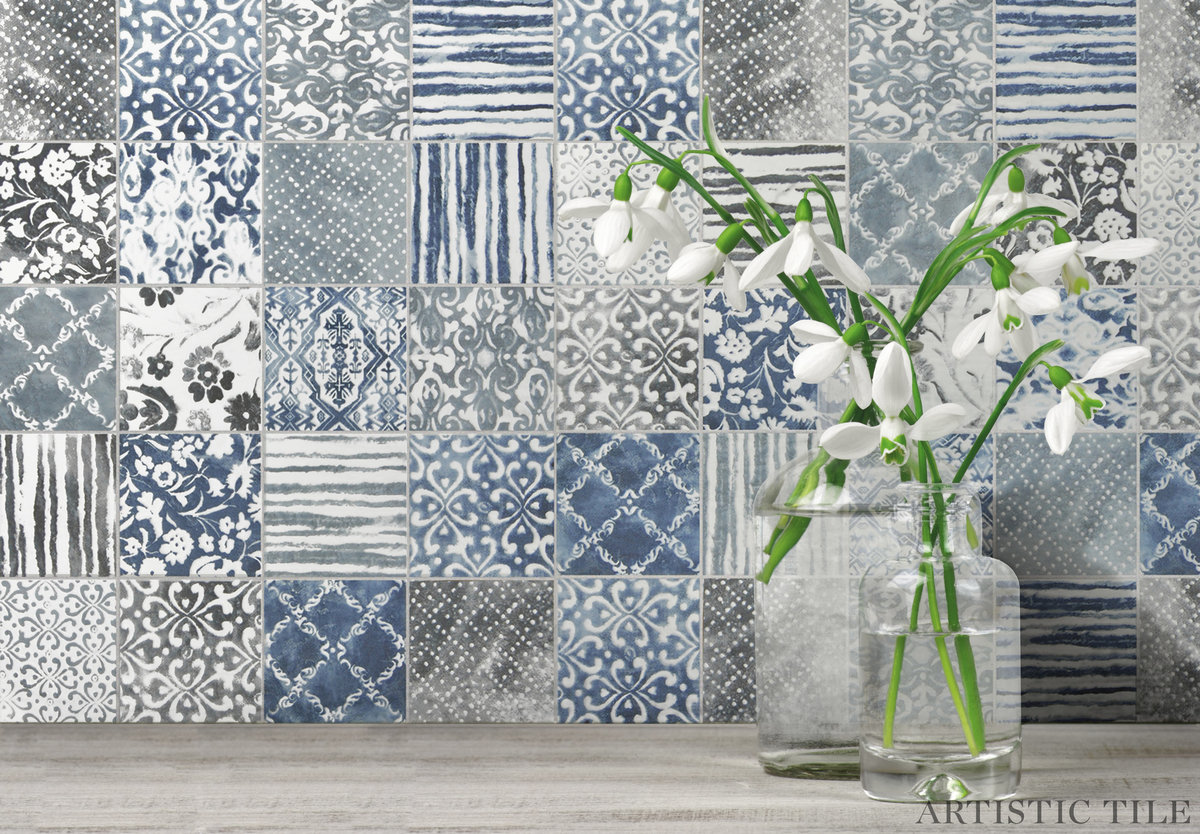 Homestead Blue Mosaic_backsplash