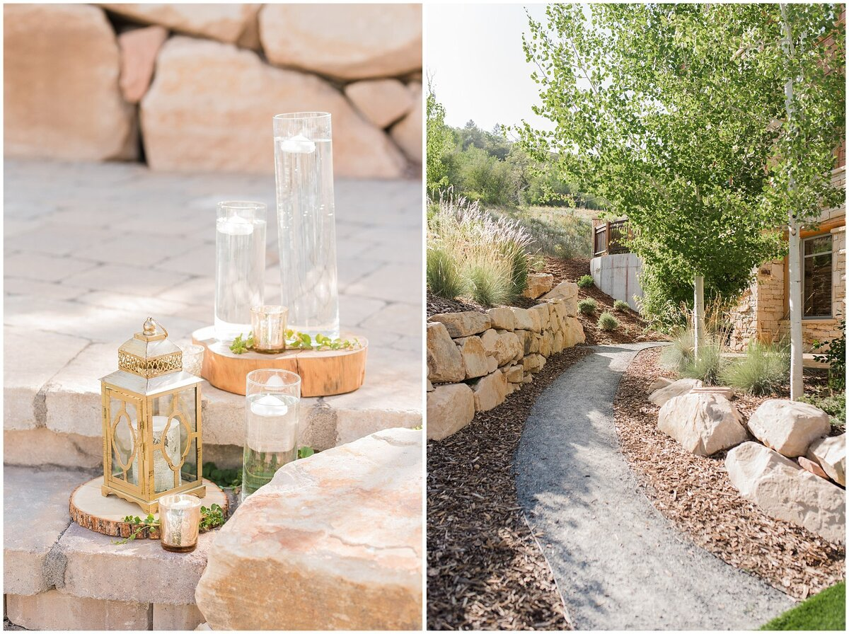 Views of the ceremony site at the Hyatt Centric Park City