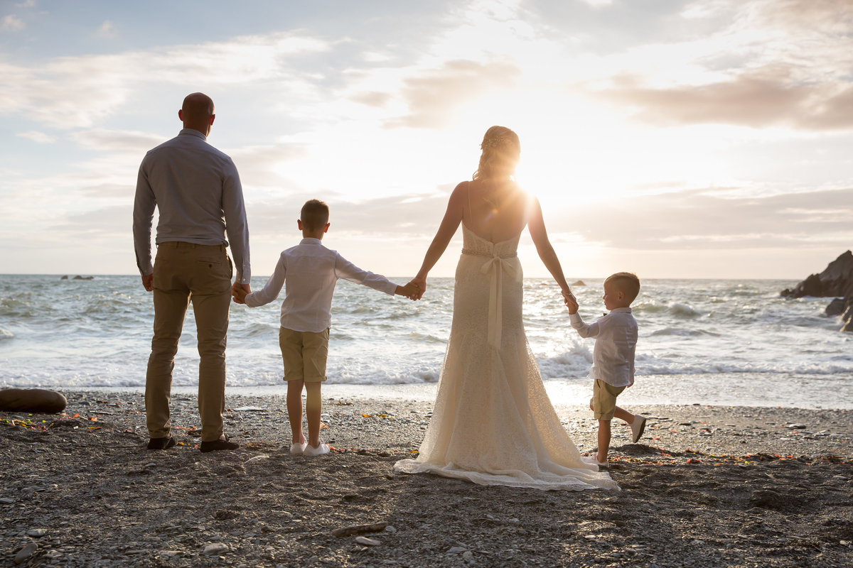 family wedding at tunnels beaches in devon