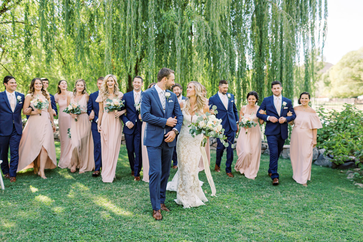 Page Springs wedding under willow tree at Dancing Apache Ranch