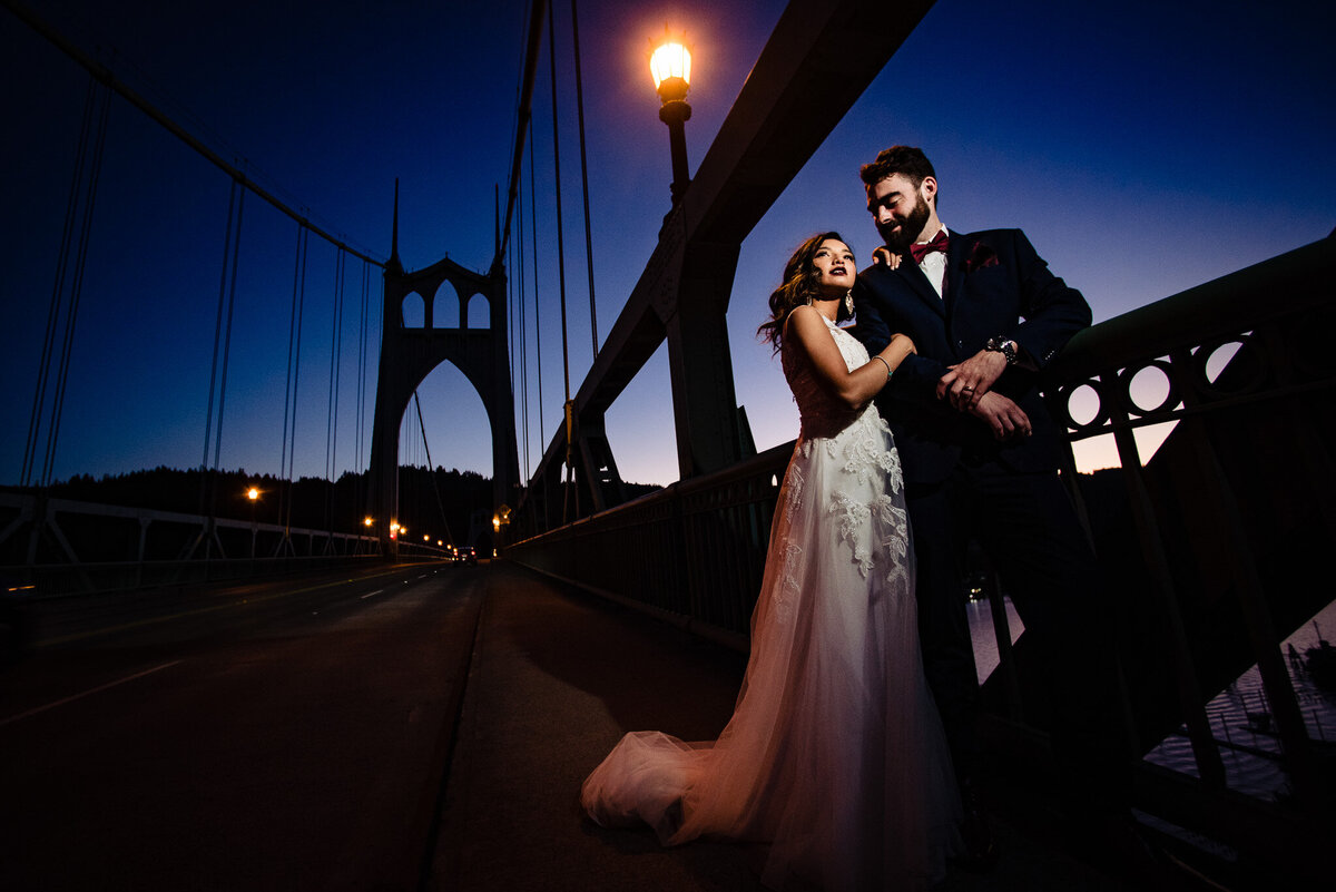 St Johns Bridge Portland Wedding