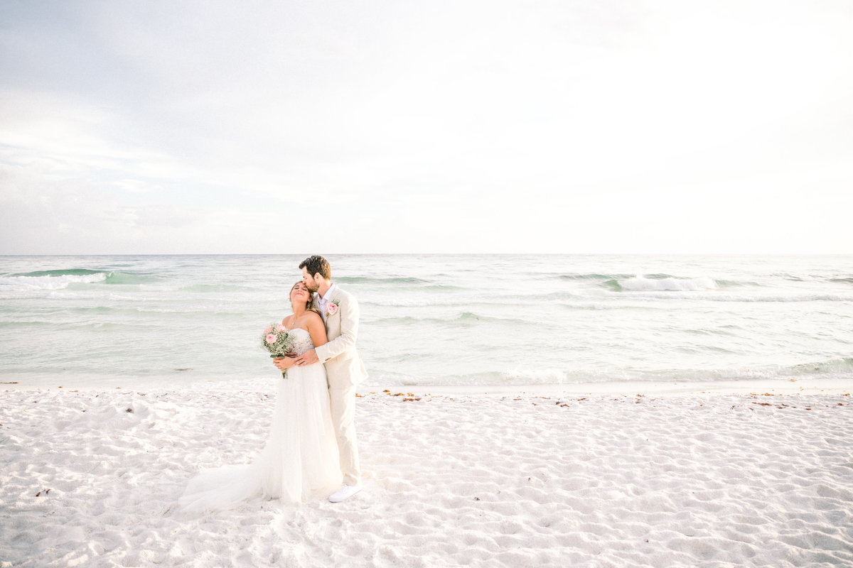 Miramar Beach Wedding Bride and Groom Portrait