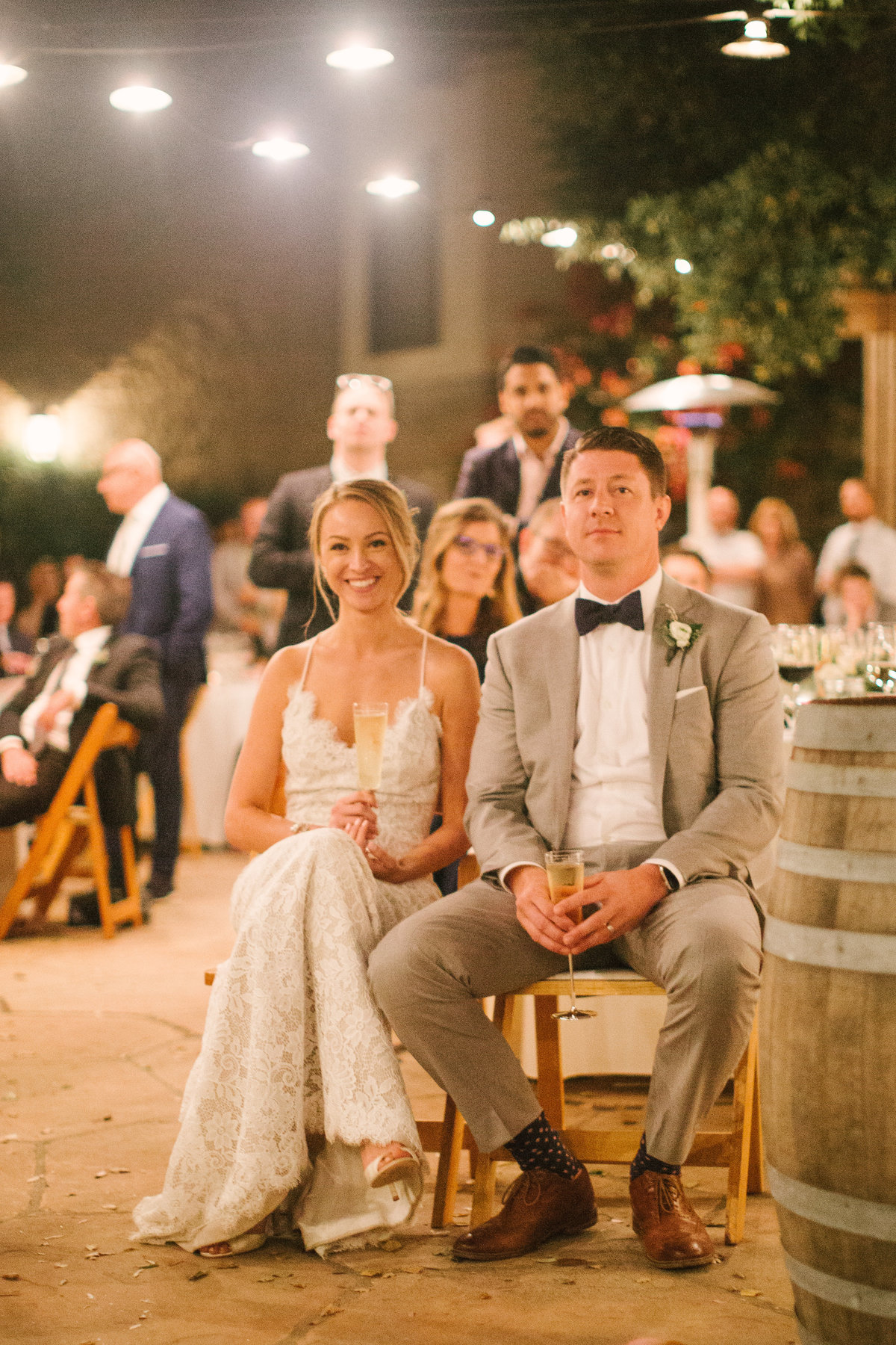 Best man gives toast at Firestone Vineyard wedding