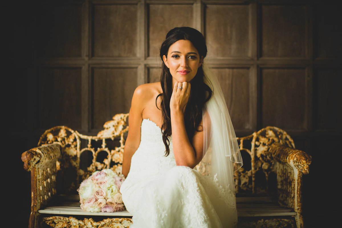 manchester wedding photographer bride at thornton manor