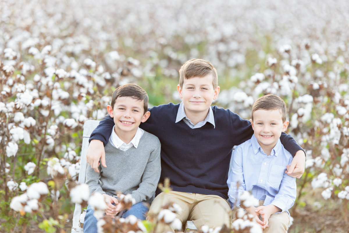 brothers in cotton field in Memphis, TN