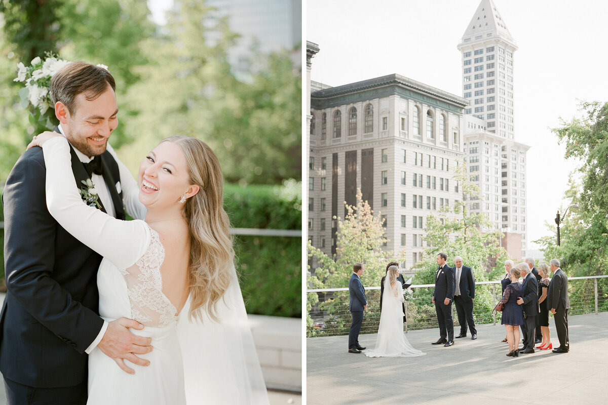 Seattle Courthouse Micro Wedding - Tetiana Photography - Seattle film wedding photographer - Fine Art - Elopement - 1