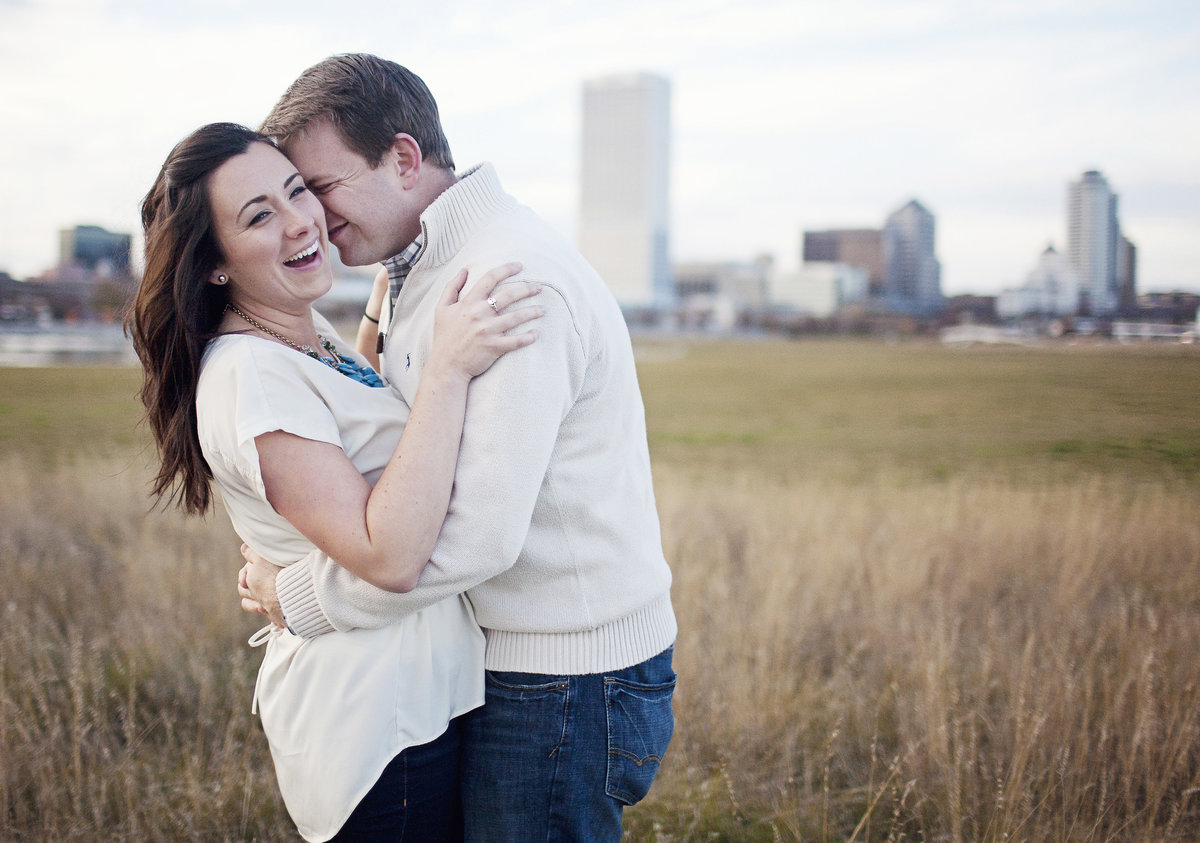 downtown milwaukee engagement photos