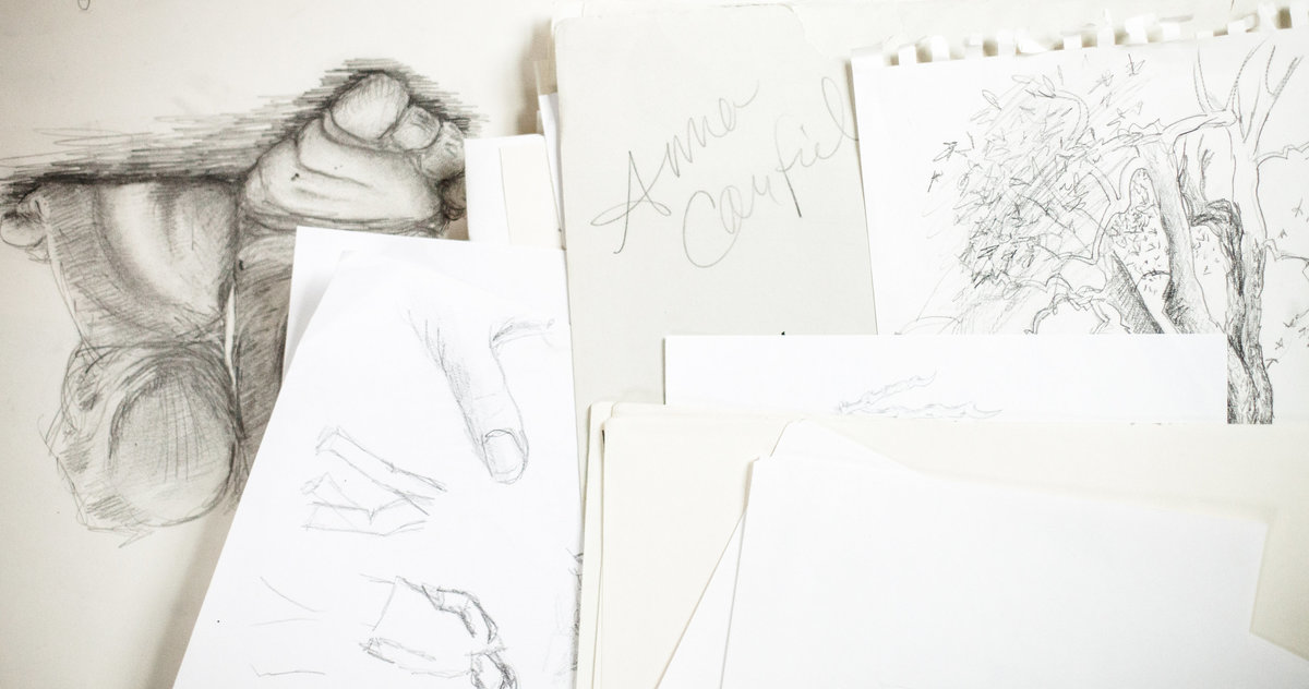 assortment of drawings and sketches from anna canfield art