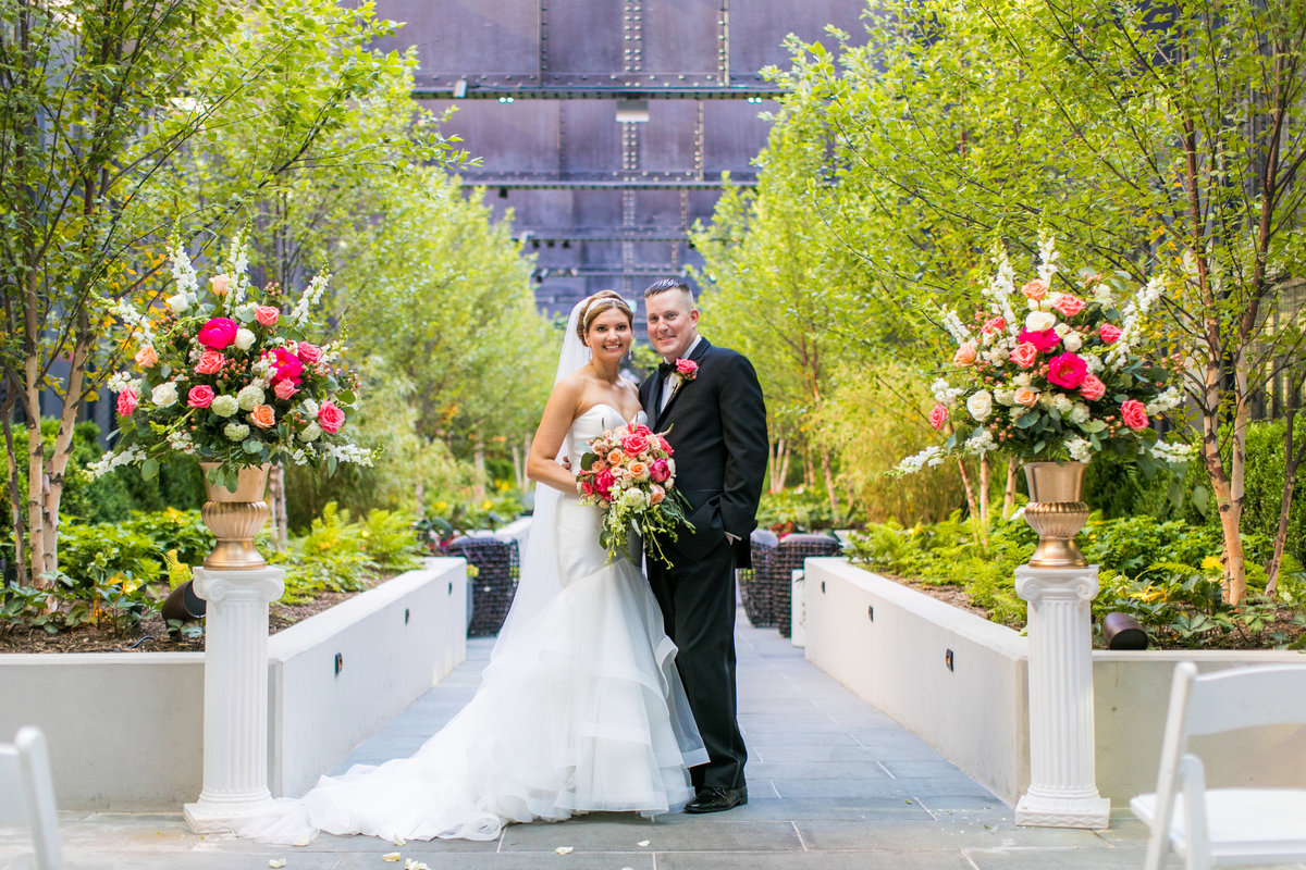 Sagamore Pendry Hotel Wedding in the Courtyard