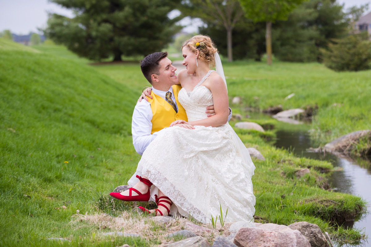 Ruby red slippers?  Not the wizard of oz wedding, but this was truly a fairytale wedding day with this bride and groom on Somerby Golf & Country Club grounds