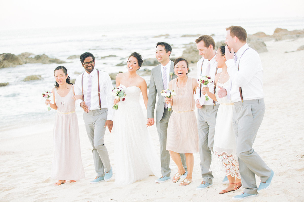 Blush and Grey Beach Wedding
