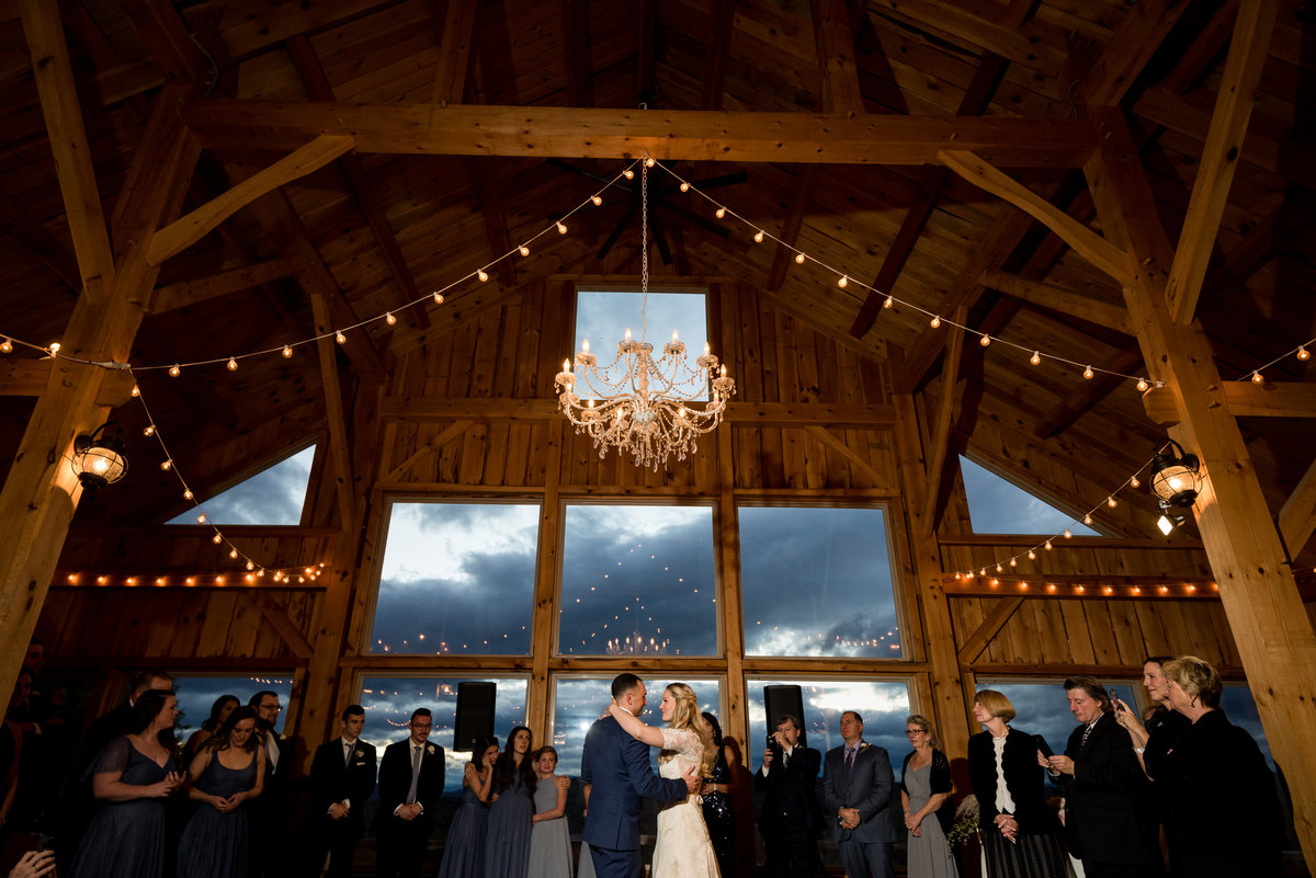 barn wedding in Maine