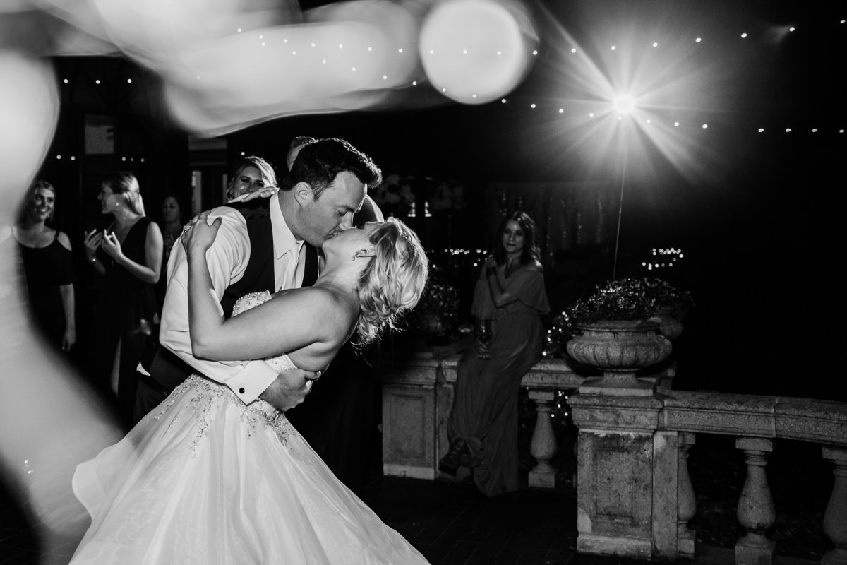 Bride and Groom First Dance at Epping Forest Yacht Club
