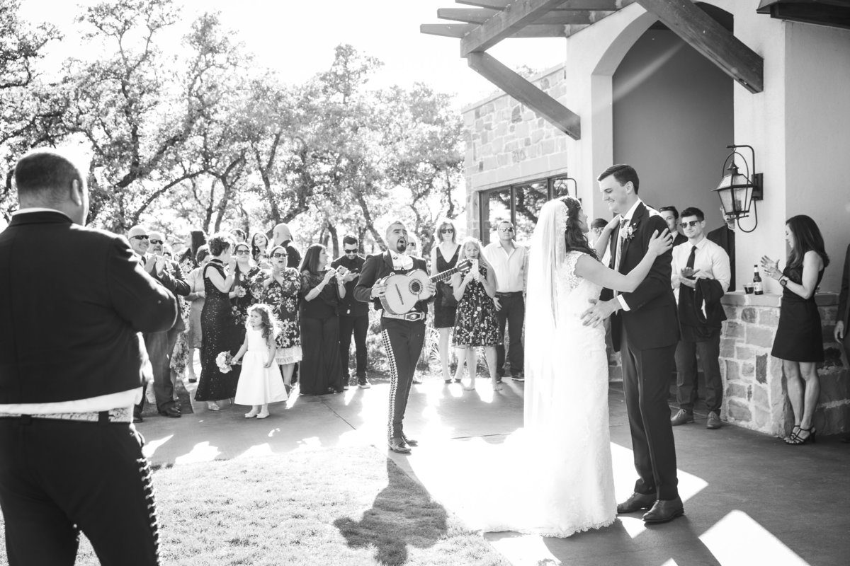 canyonwood ridge wedding photographer bride groom dancing mariachi 250 S Canyonwood Dr, Dripping Springs, TX 78620
