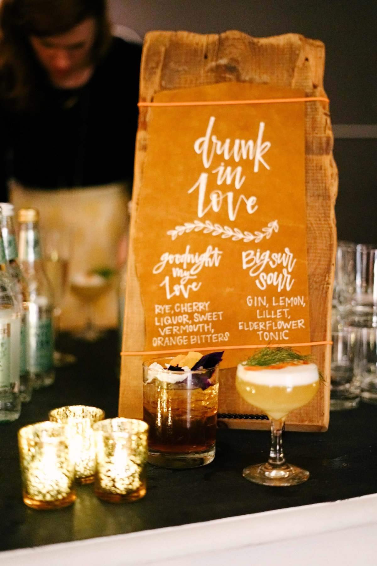 drunk in love bar menu for dinner parties