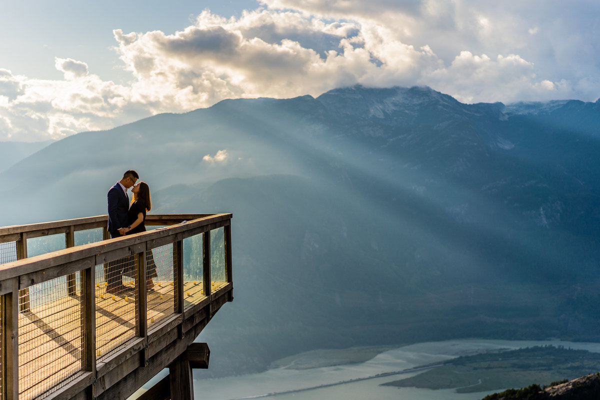 Sea to Sky Proposal with one of most stunning sunsets