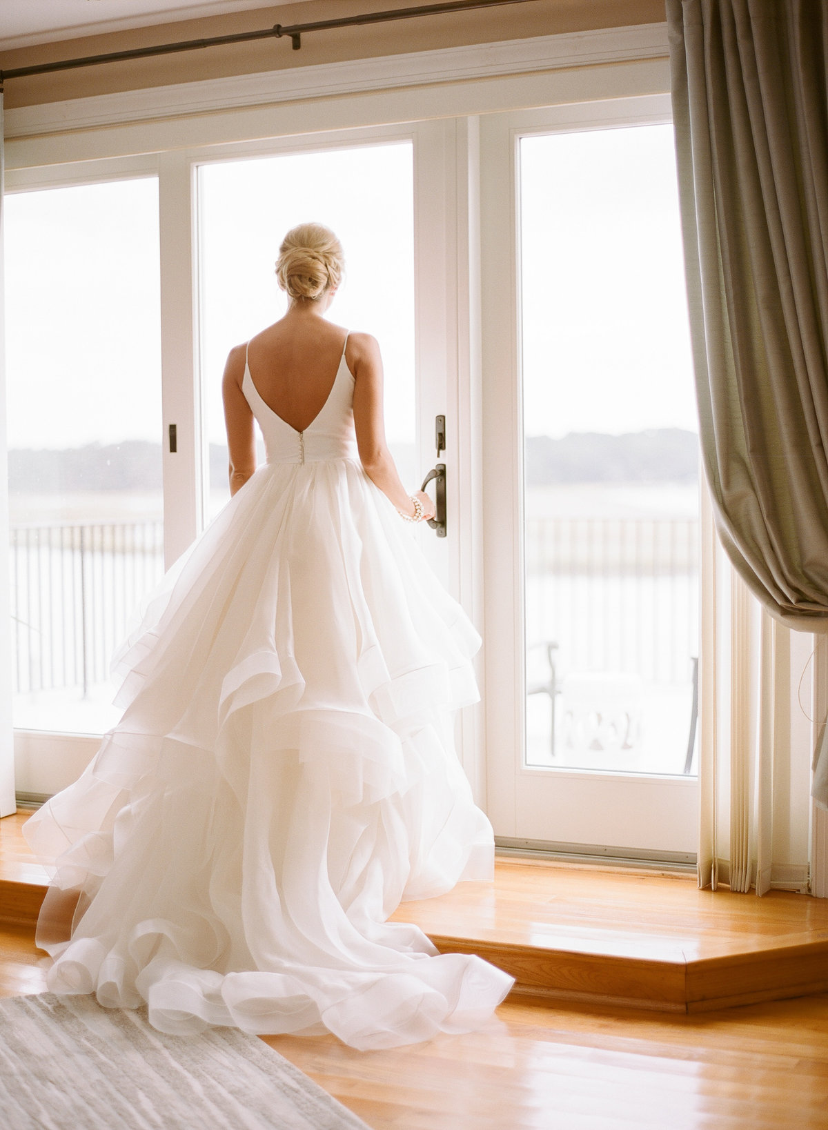 Alexis in Modern Trousseau Charleston Wedding Tiered Ball Gown