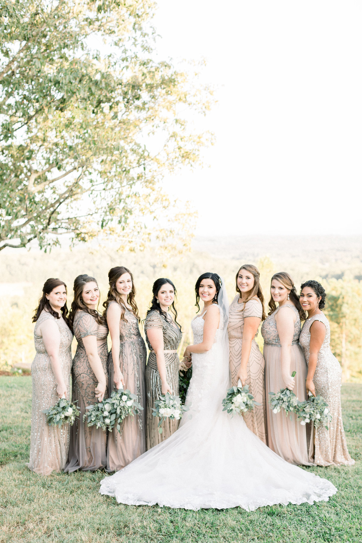bridal party outdoors-53
